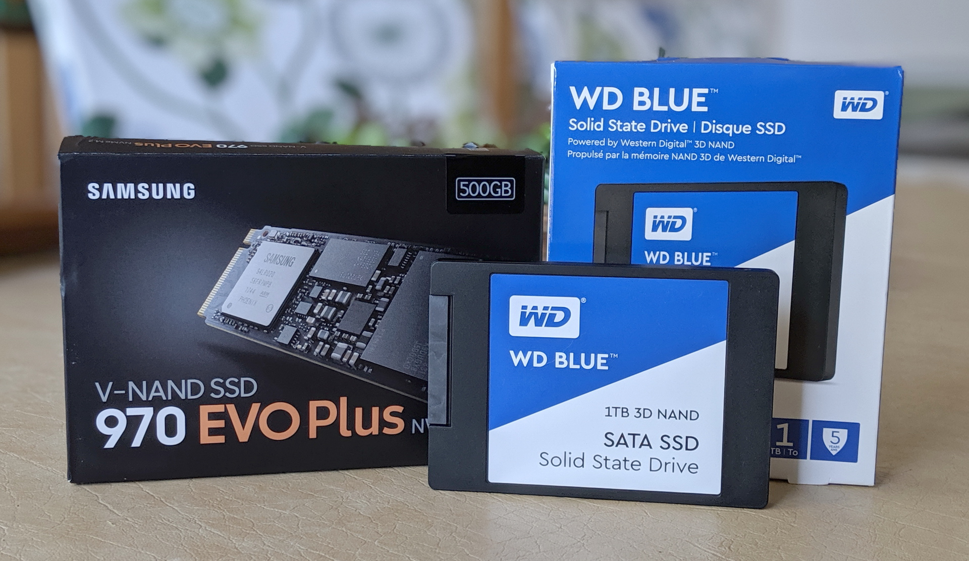 Samsung 970 EVO Plus 500GB SSD and WD Blue 1TB SSD