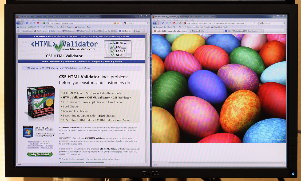Dell U2311H LCD monitor on desk