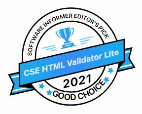 Software Informer gives CSS HTML Validator Lite a GOOD CHOICE Award