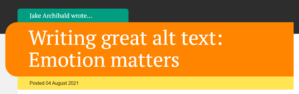 Writing great alt text when emotion matters by Jake Archibald