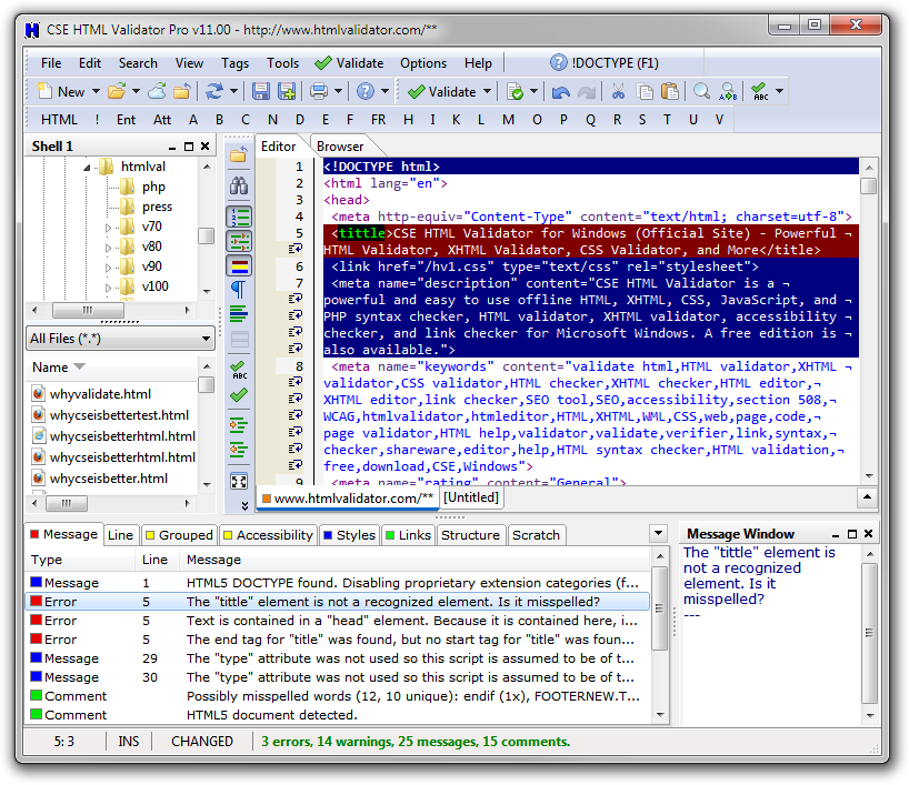Click to view CSE HTML Validator Pro 11.0200 screenshot