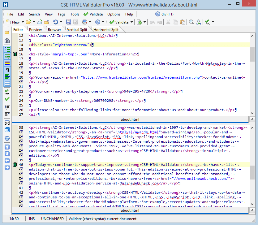 Integrated Editor View 2